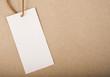 Постер, плакат: Бирка крафт бумага Белая этикетка коричневая упаковочная бумага