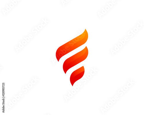 Initial Letter F Flame Fire Logo Design Template | Buy Photos | AP ...