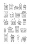 Set of doodle houses - 128996339