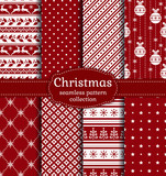 Fototapety Christmas seamless patterns. Vector set.