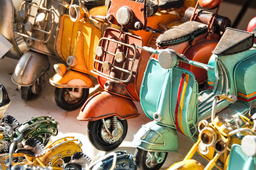 Aluminium Scooter miniatures of italian vespa