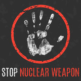 Vector. Global problems of humanity. Stop nuclear weapon.