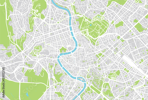 Rome vector city map - 129022765