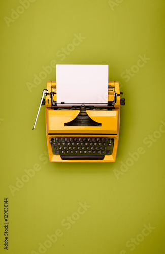 Retro colored typewriter Poster