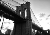 Brooklyn bridge in black and white style
