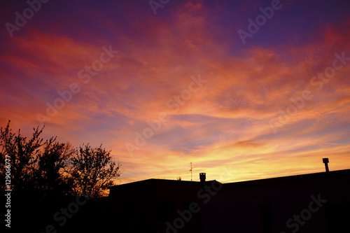 Foto op Aluminium Crimson sunset in italy