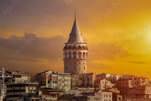 Galata Tower in Istanbul Turkey Poster