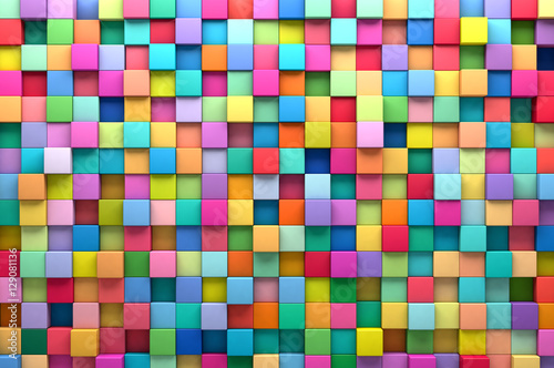 abstract background of multi colored cubes buy photos. Black Bedroom Furniture Sets. Home Design Ideas