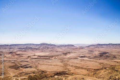 Poster Blick über die Negev Wüste