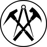 Aufkleber, Werkzeuge, Dachdecker Logo - 129081584
