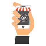 digital sale modern cellphone icon image vector illustration design