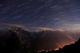Beautiful moutains at night