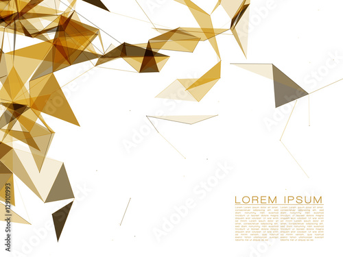 Abstract Gold Shapes on White Background | EPS10 Futuristic Design © hunthomas