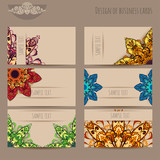 Business cards beige with mandala