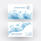 Vector abstract water and soap . Business card
