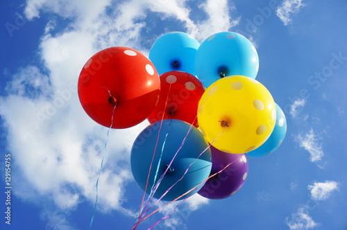 Deurstickers Ballon Colorful Balloons