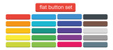 Fototapety Flat Web Buttons Set Vector Isolated Material Design