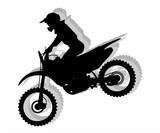Fototapety Motocross silhouette illustration