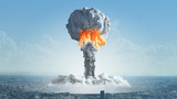 The explosion of a nuclear bomb in the city. - 129202312