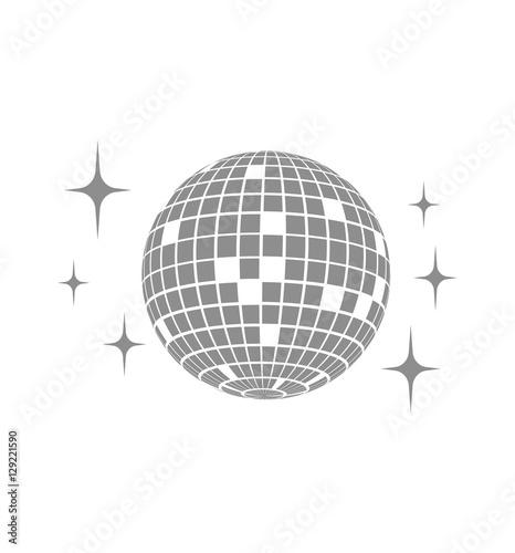 Disco ball Vector icon - 129221590