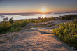 Sunrise at Cadillac Mountain in Acadia National Park Maine