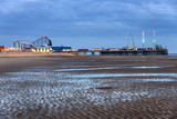 Blackpool beach,South Pier-Lancashire England