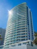 Tall building at tropical resort