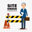 site under construction icon vector illustration design