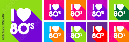 Fotobehang Pop Art I love 80's