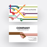 Vector abstract handshake and friendship. Business card