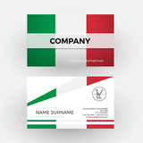 Vector abstract italian flag. Professional business card for Ita