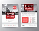 Red Brochure cover Flyer Poster design Layout vector template in A4 size