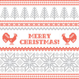 Christmas and New Year knitted background