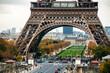 Paris, France. Close view of famous Eiffel Tower and Champ de Mars