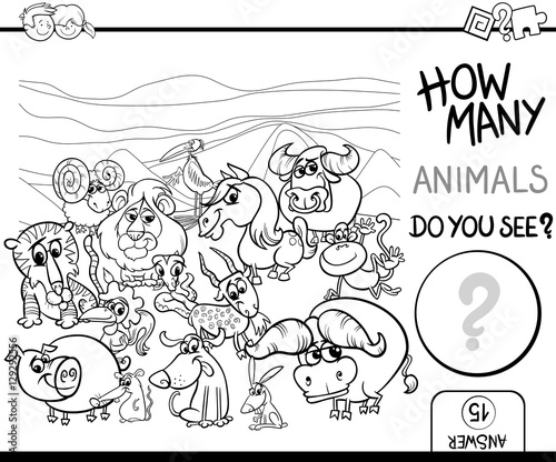 count the animals for coloring