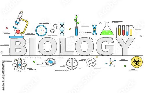 Biology line style illustration