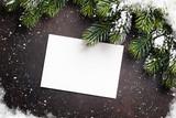 Christmas greeting card and fir tree
