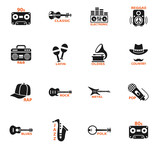 musical genre web icons - 129329365