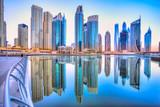 Panorama Dubaju o zmierzchu