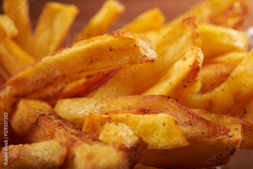 fried French fries close up Poster