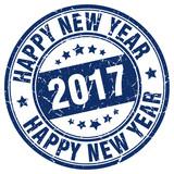 happy new year 2017 stamp