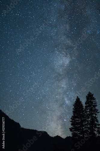 Milky Way Galaxy from the Yosemite Valley Poster