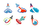 Clouds collection Symbol Design