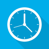 Clock icon. Vector illustration.