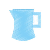 drawing pitcher water juicy kitchen icon vector illustration eps 10