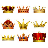 Crown Designs Vector Illustrations