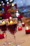 赤ワインとキャンドル