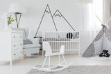 Fototapety Child bedroom with wall decal