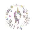 Unicorn Rainbow pattern - 129450544