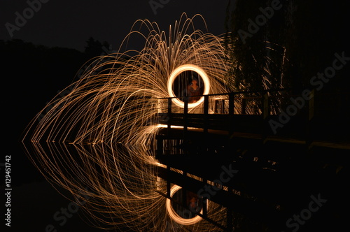 Poster Steel Wool Fire